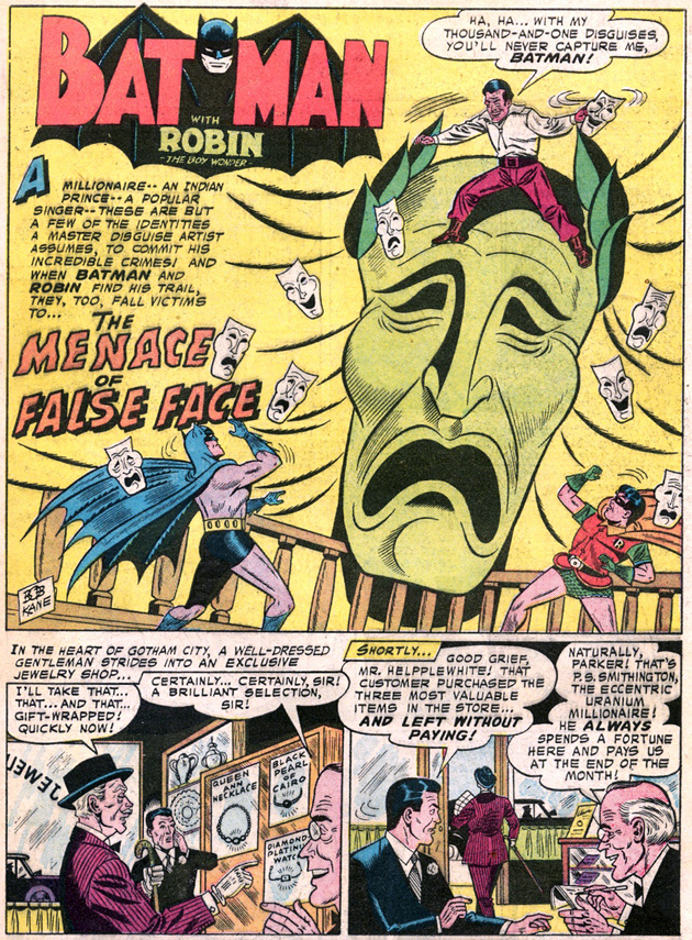 Batman 113 False Face splash page